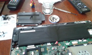 taking apart the laptop